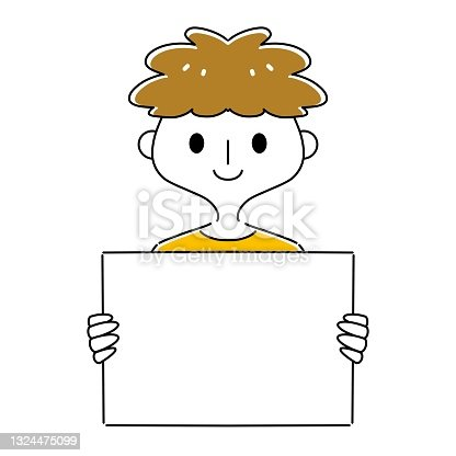 istock A man with a message board 1324475099