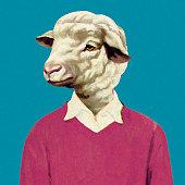 Man with Sheep Head