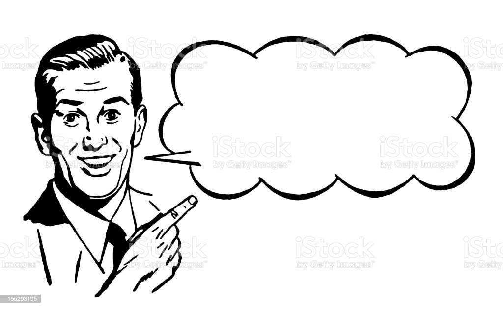 Man With Speech Bubble royalty-free stock vector art