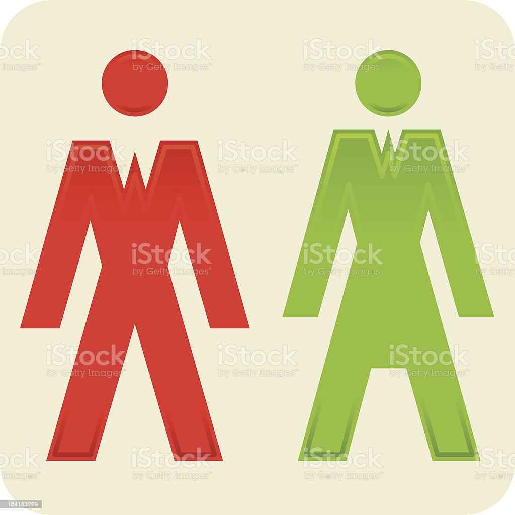 Man woman icon (vector) royalty-free stock vector art