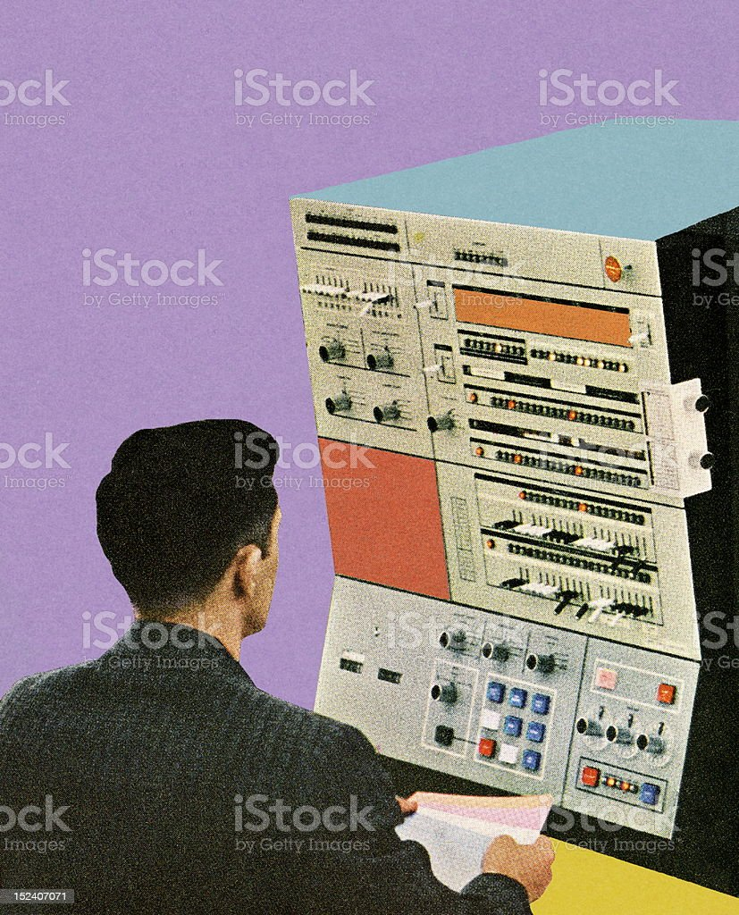 Man Working at Machine royalty-free man working at machine stock vector art & more images of adult
