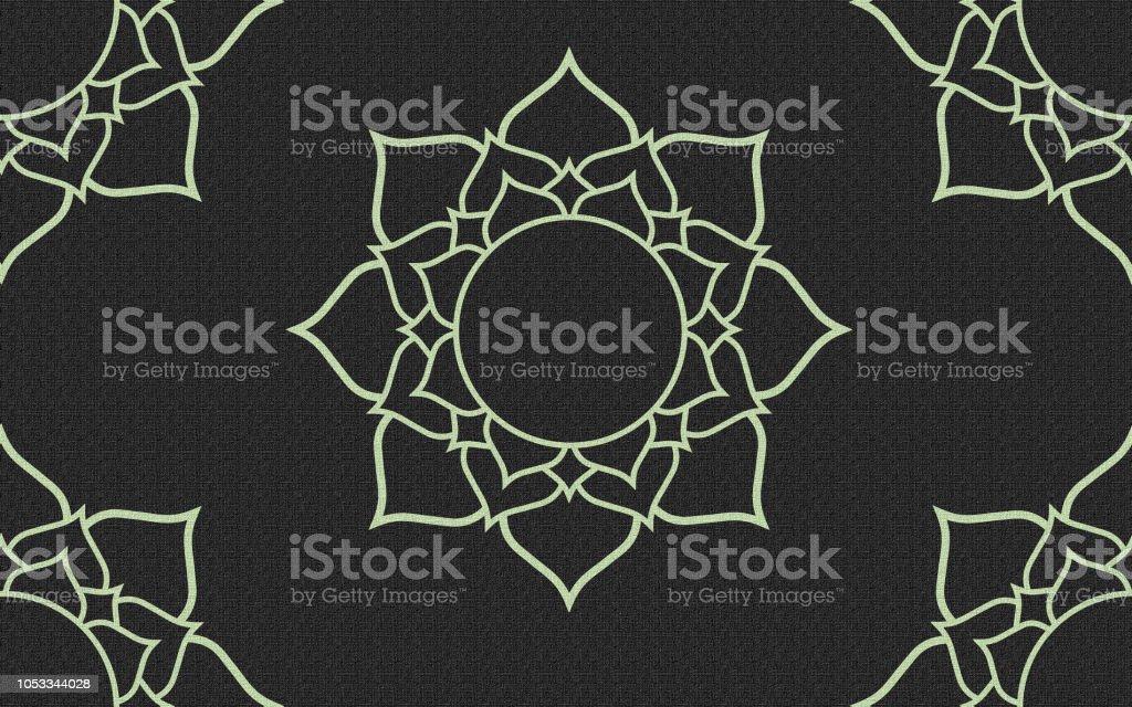 Mandala Toile Arriereplan Art Decoration Cliparts Vectoriels Et