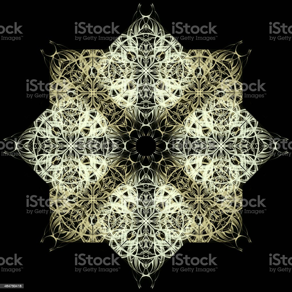 Mandala. Decorative hand drawn lace pattern vector art illustration