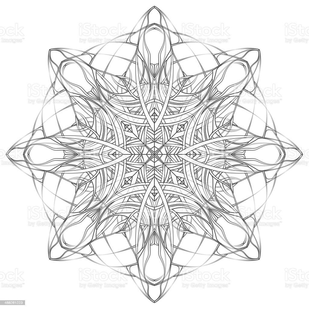 Mandala. Decorative round lace pattern vector art illustration