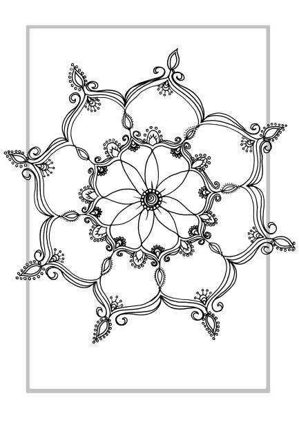 mandala illustration vector art illustration