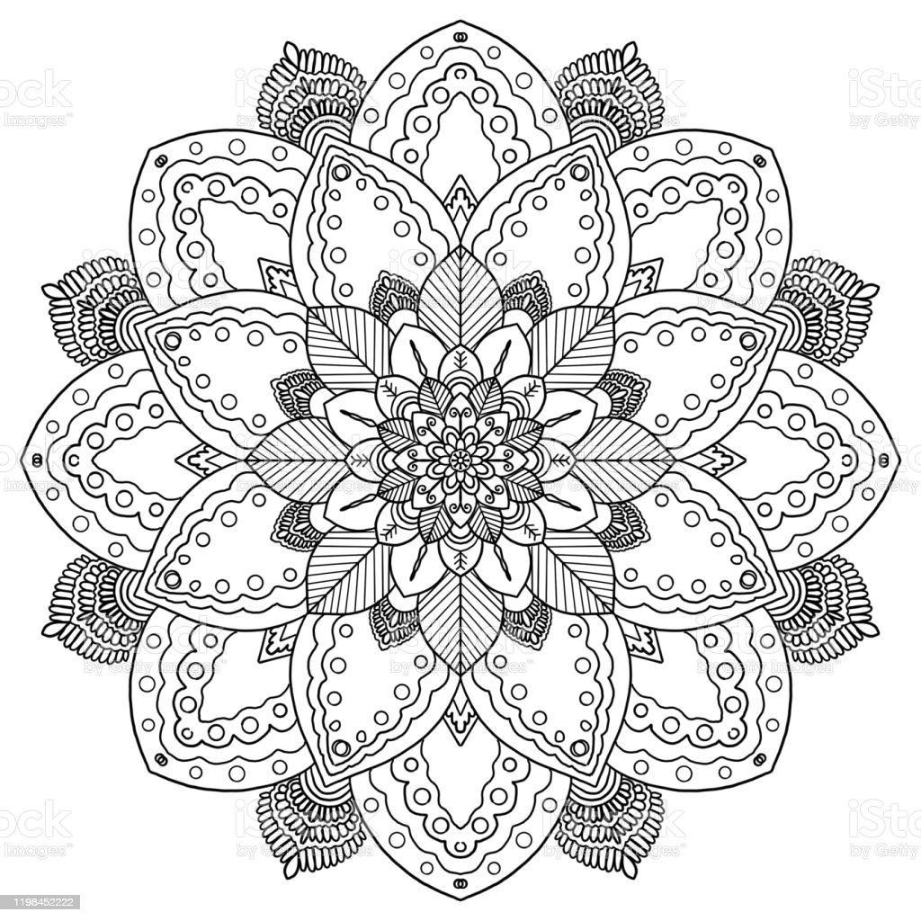 - Mandala Pattern Coloring Books Stock Illustration - Download Image Now -  IStock