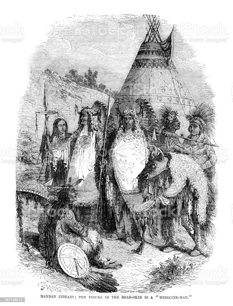 Mandan Native Americans royalty-free mandan native americans stock vector art & more images of 19th century style