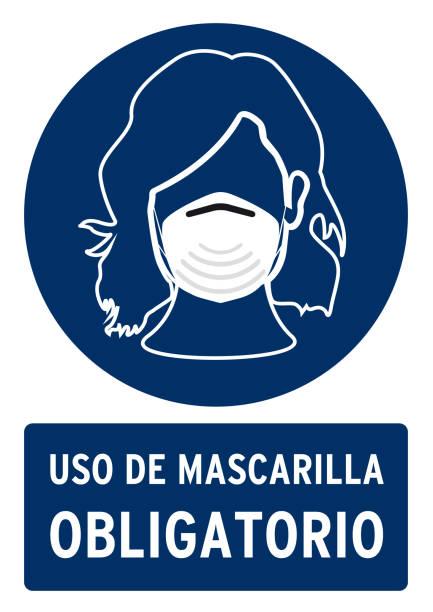 obligatorische maske plakat - ffp2 maske stock-grafiken, -clipart, -cartoons und -symbole