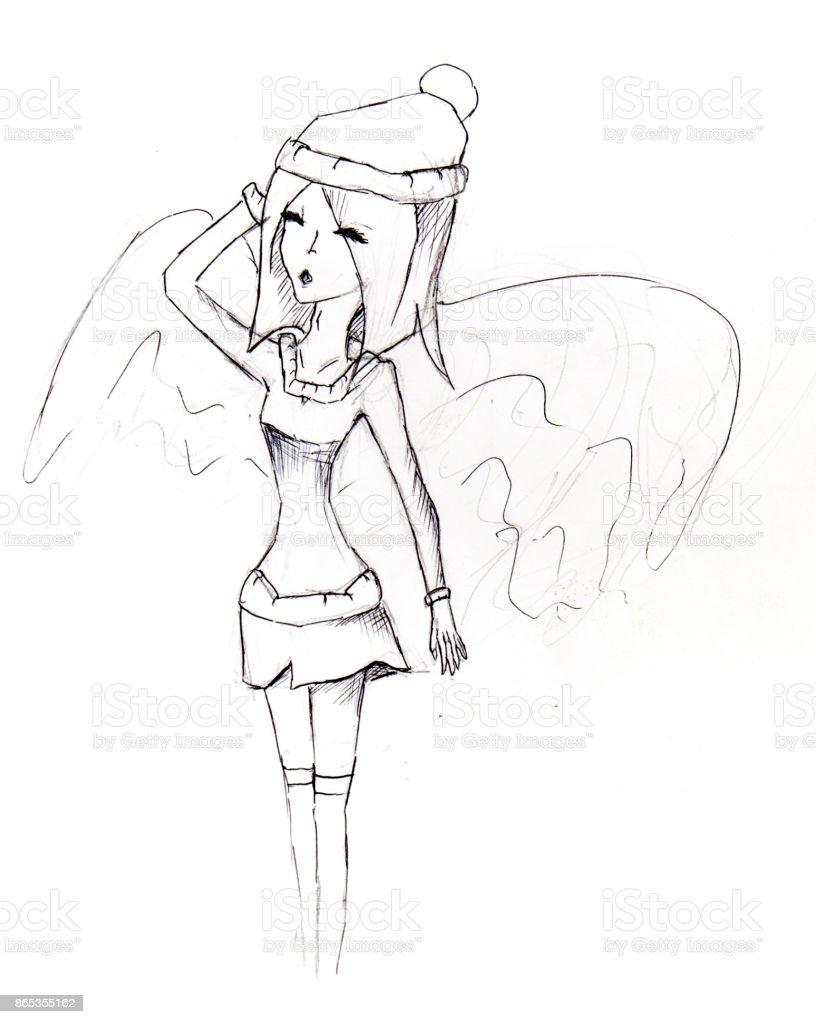 Illustration De Style Manga Croquis Vecteurs Libres De Droits Et