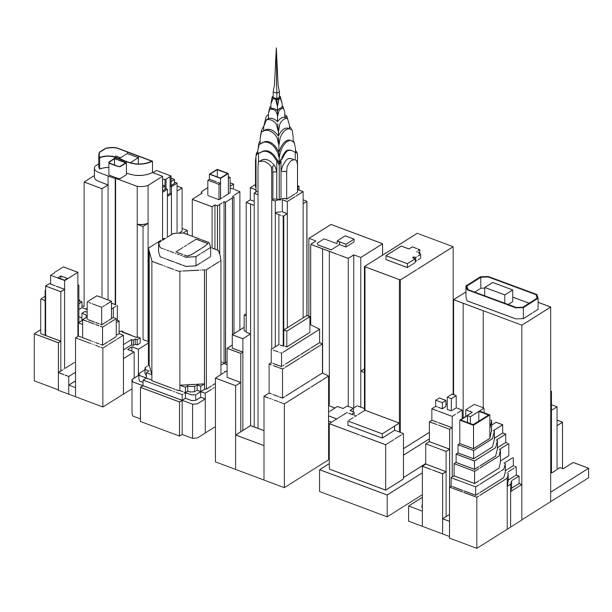 Manhattan   New York City   02 vector art illustration
