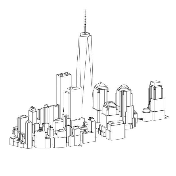 Manhattan   New York City   03 vector art illustration