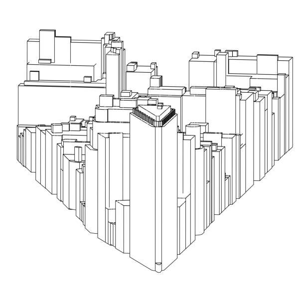 Manhattan   New York City   04 vector art illustration