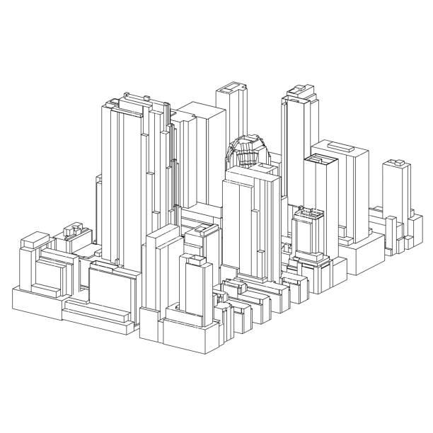 Manhattan   New York City   06 vector art illustration
