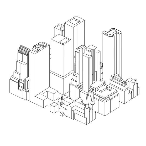 Manhattan   New York City   07 vector art illustration