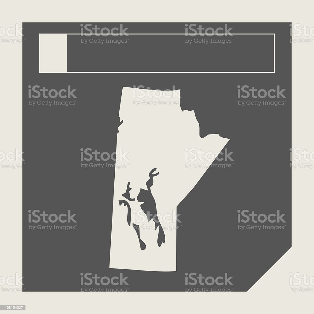 Manitoba state in Canada vector art illustration