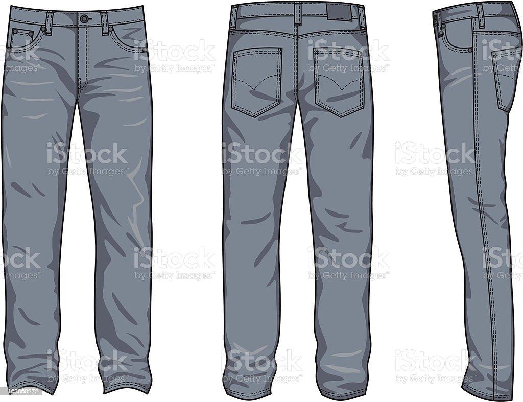 Man's jeans vector art illustration