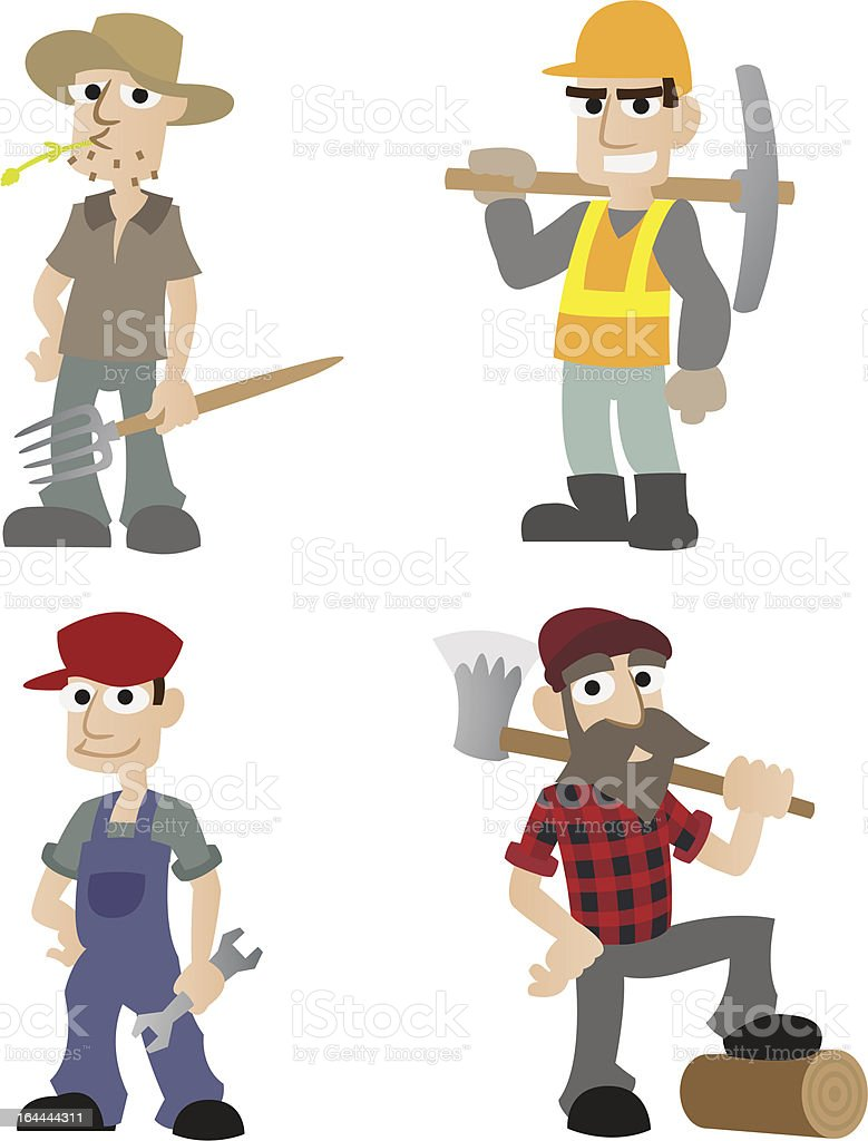 Manual_Workers royalty-free stock vector art