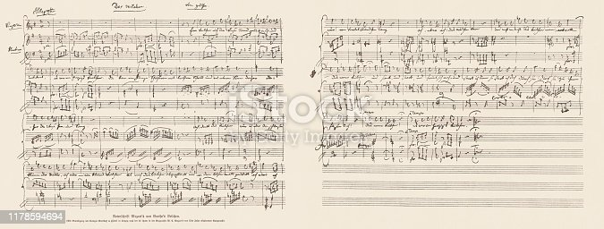 Handwritten music score of