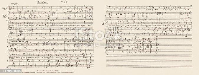 Handwritten music score of