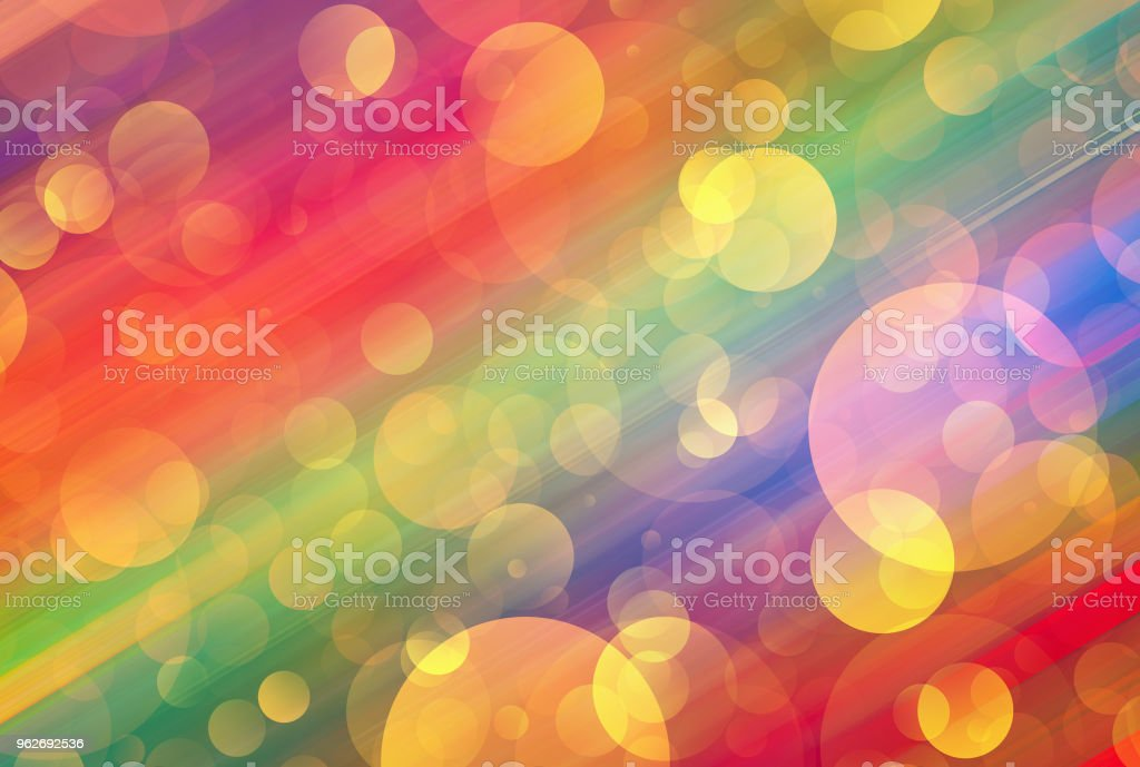 Many colorful transparent light bubbles vector art illustration