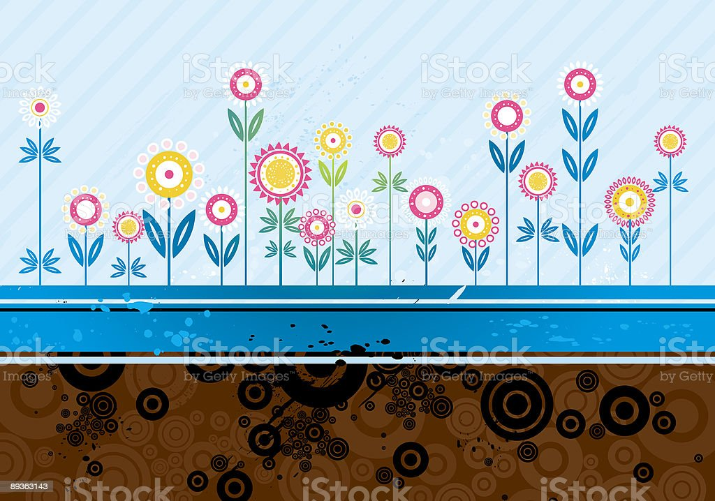 many flowers, vector royalty-free many flowers vector stock vector art & more images of abstract