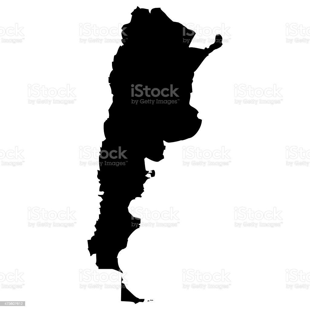 Map Argentina vector art illustration