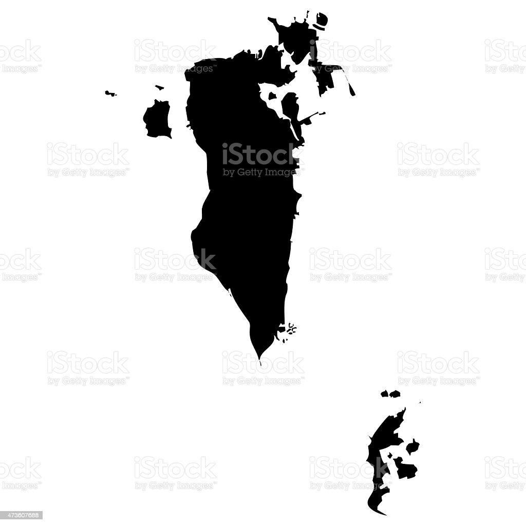 Map Bahrain vector art illustration