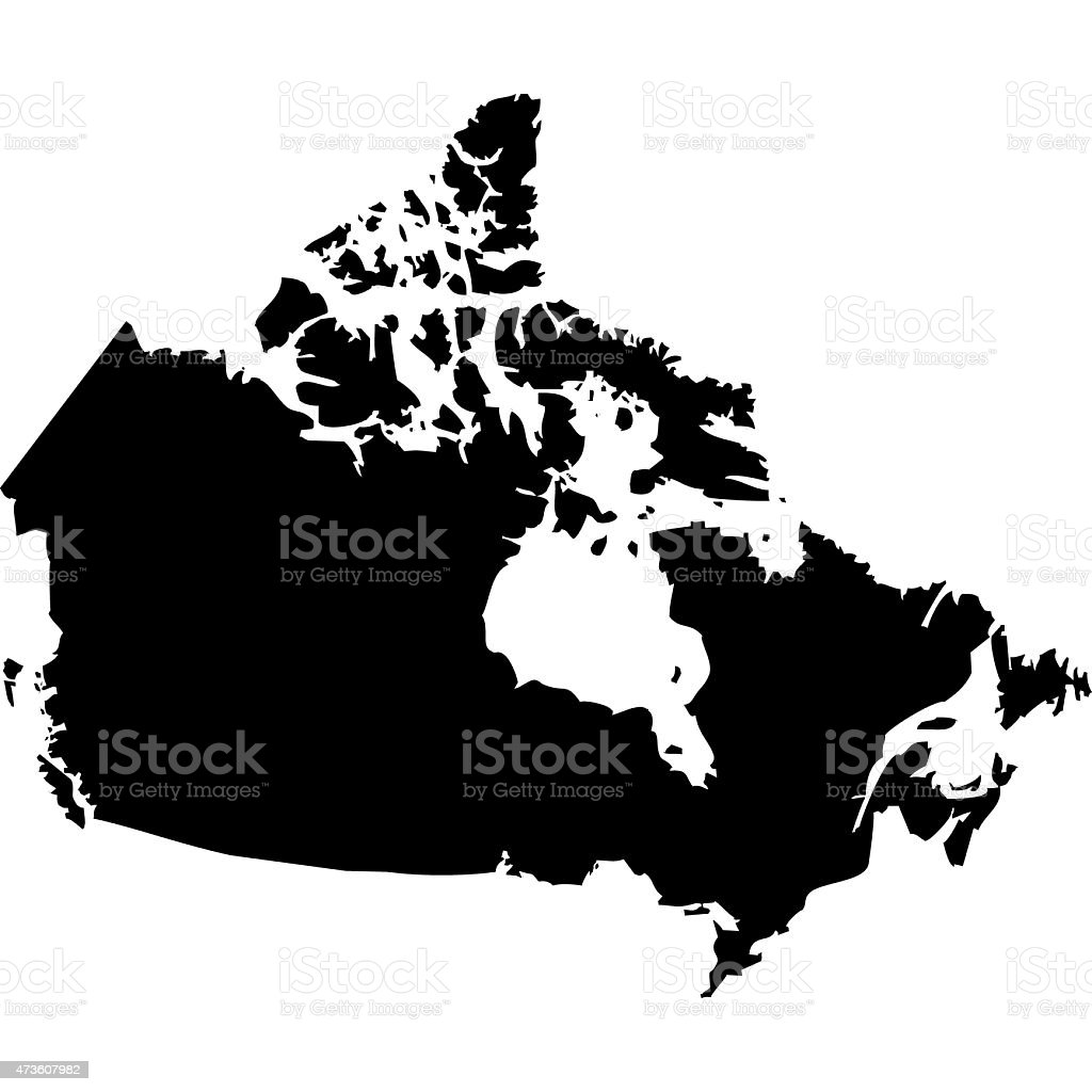 Map Canada vector art illustration