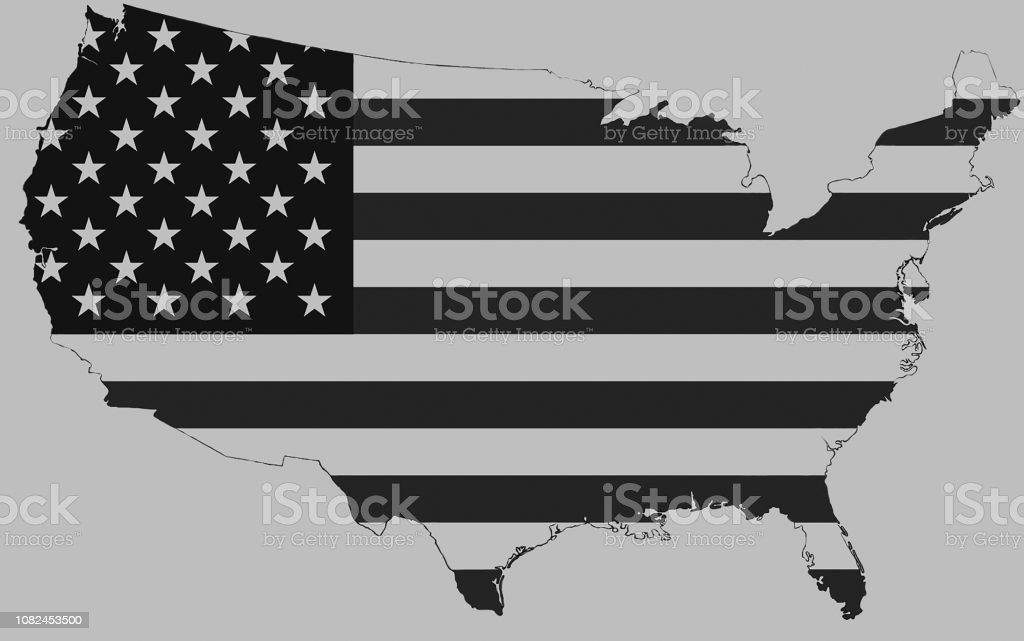 Usa Map Stock Vector Art & More Images of Above
