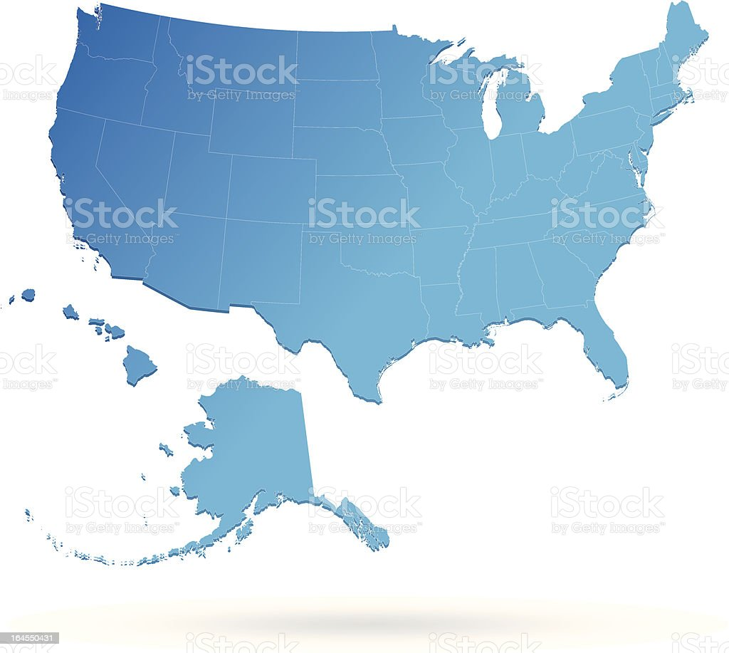USA Map royalty-free stock vector art