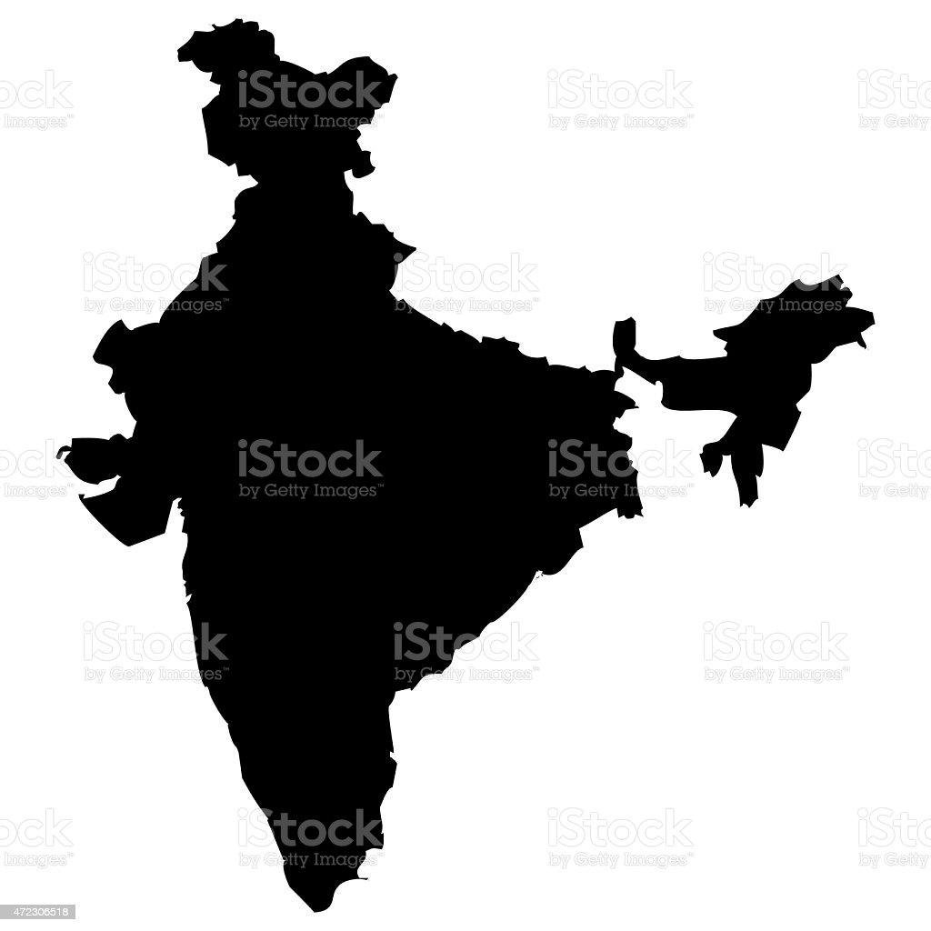 Map India vector art illustration