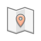 istock Map Location Pin icon Symbol Illustration in Flat and Modern Style can be used in navigation geographic design and etc 1288008537