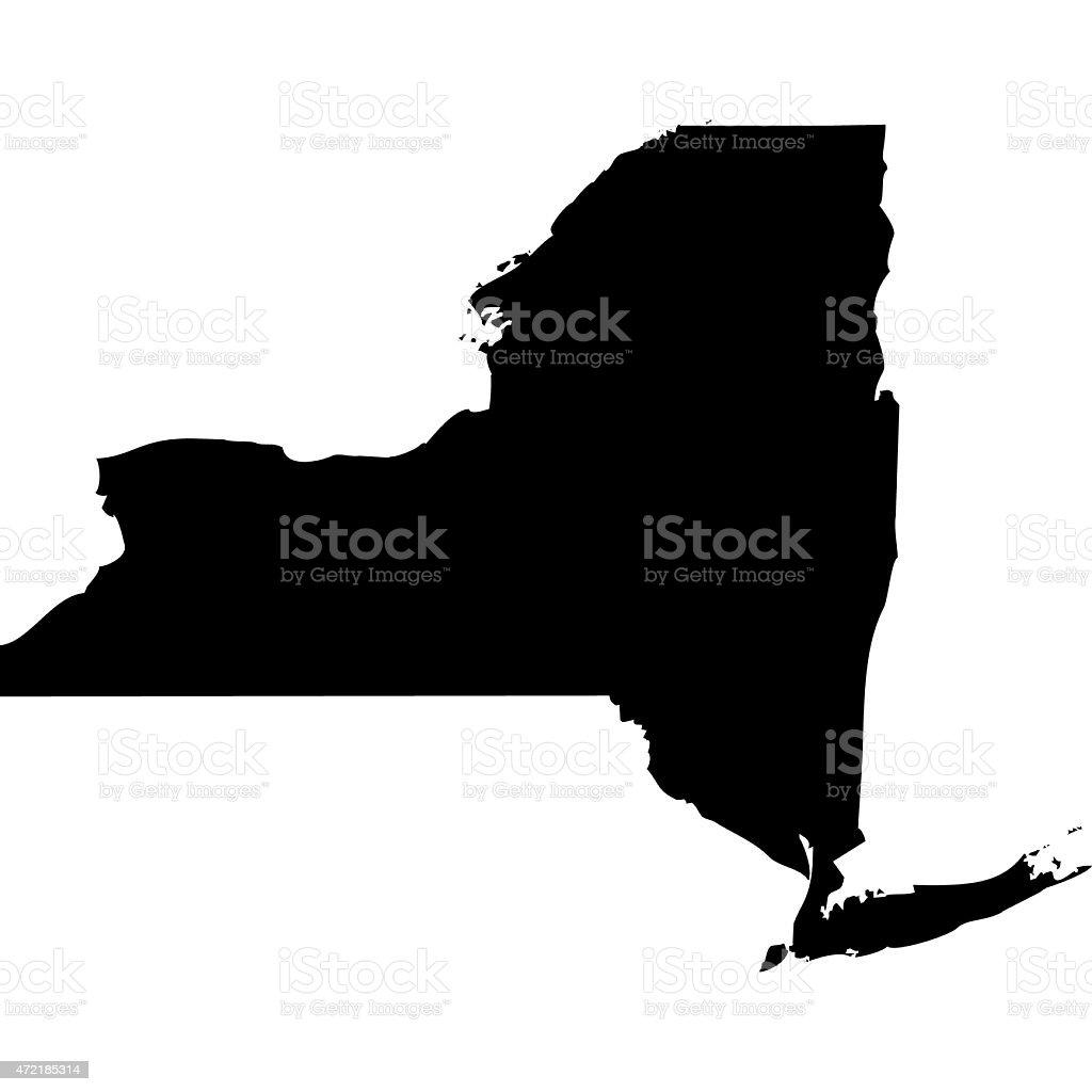 Map New York vector art illustration