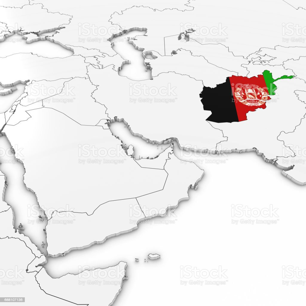 3d map of afghanistan with afghan flag on white background 3d 3d map of afghanistan with afghan flag on white background 3d illustration royalty free stock gumiabroncs Choice Image