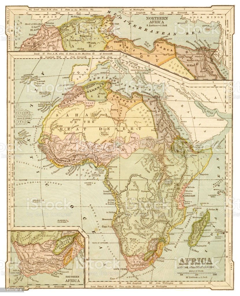 Map Of Africa 1850.Map Of Africa 1875 Stock Vector Art More Images Of Africa Istock