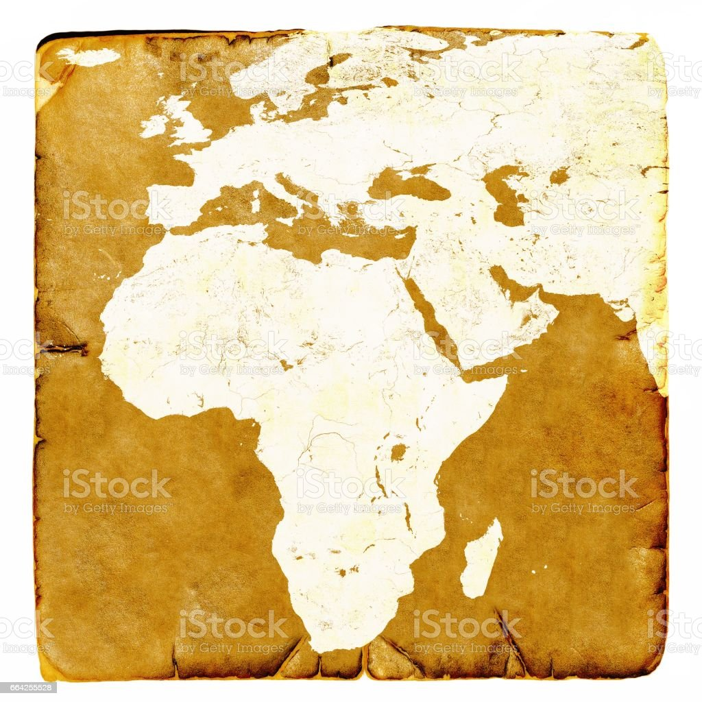 Map Of Africa And Europe Blank.Map Of Africa And Europe Blank In Old Style Brown Graphics