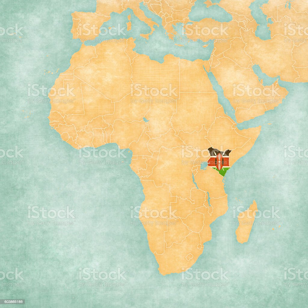 Map Of Africa Kenya Stock Vector Art & More Images of Africa ...