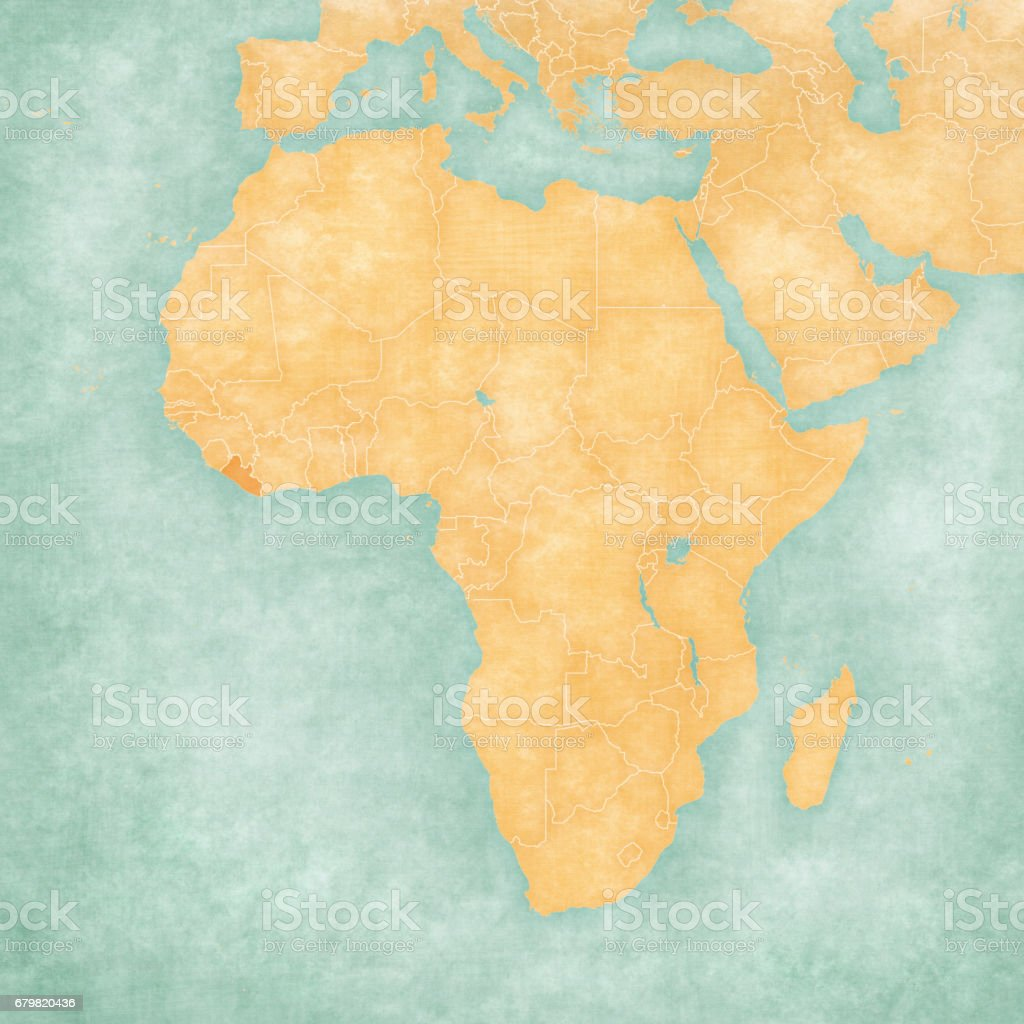Image of: Map Of Africa Liberia Stock Illustration Download Image Now Istock