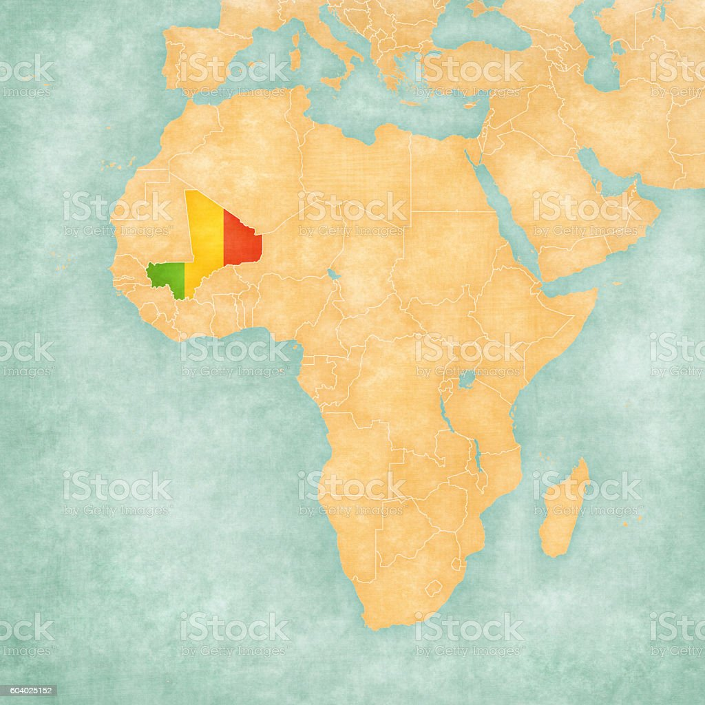 Map Of Africa Mali Stock Vector Art & More Images of Africa ...
