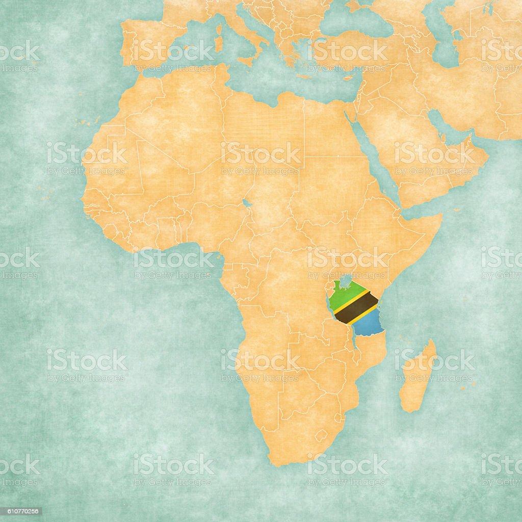 Map Of Africa Tanzania.Map Of Africa Tanzania Stock Illustration Download Image Now Istock
