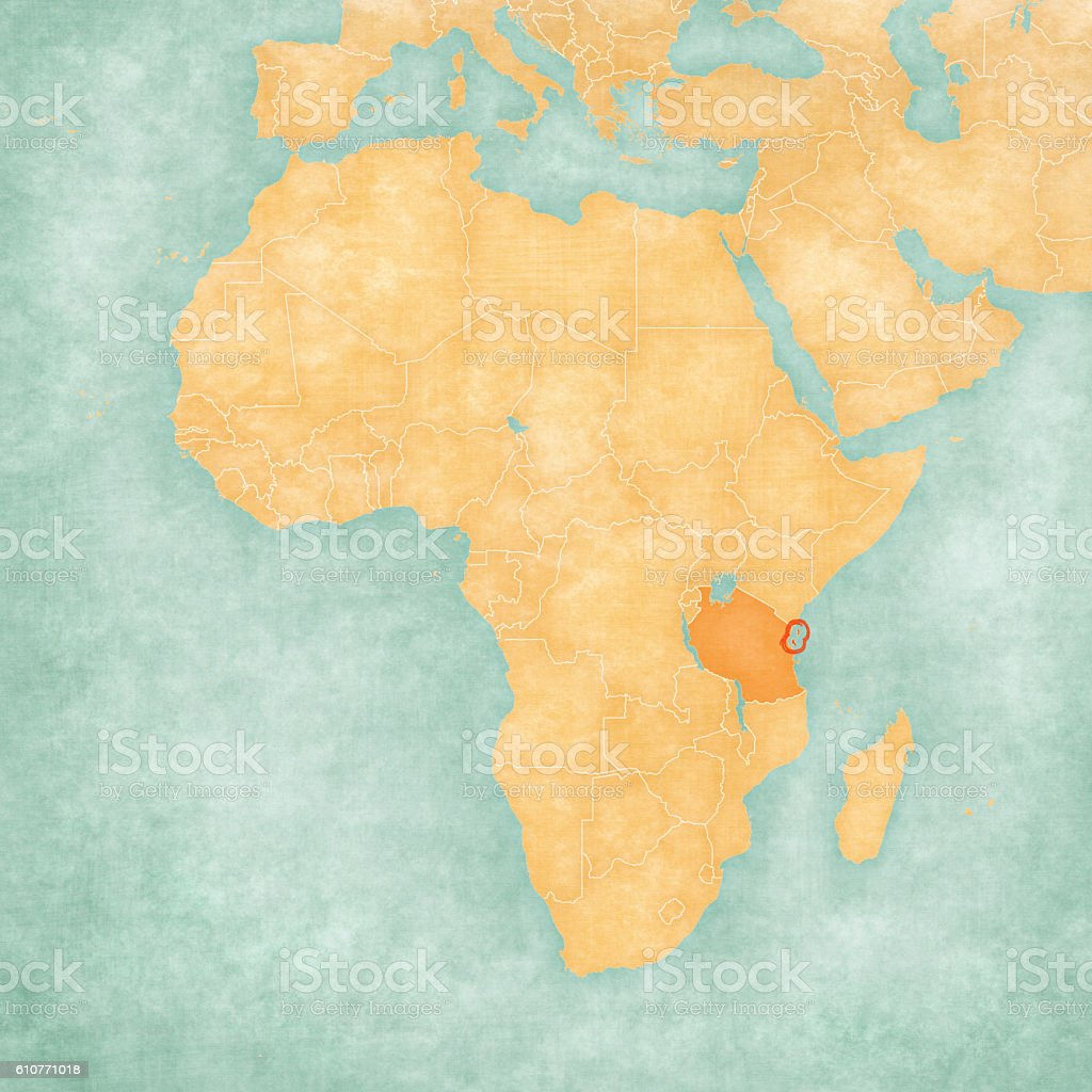 Map Of Africa Zanzibar stock vector art 610771018 iStock