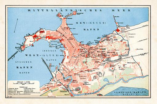 Map of Alexandria Egypt 1898