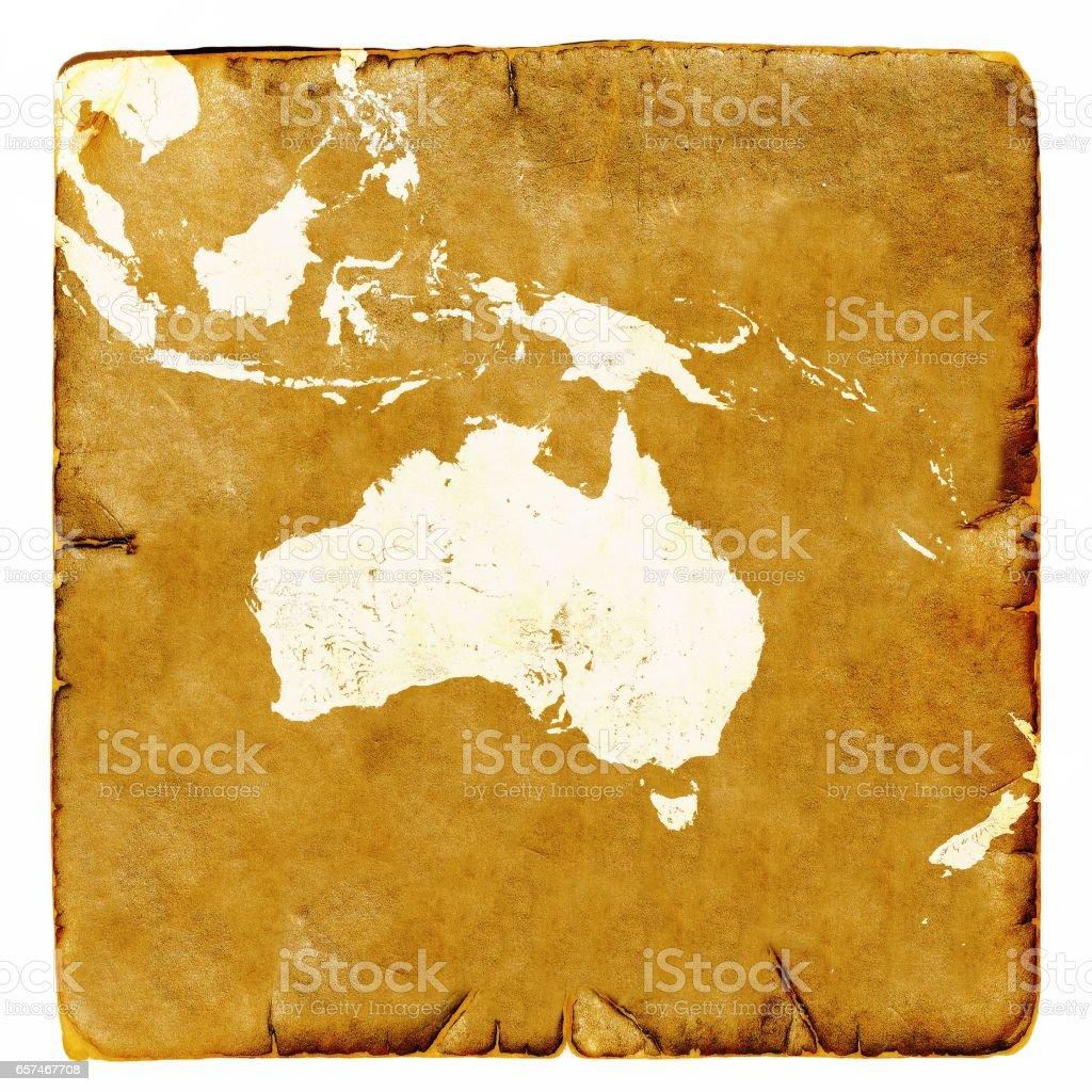 australien gammal karta Karta över Australien Tomt I Gammal Stil Brun Grafik I En Retro  australien gammal karta