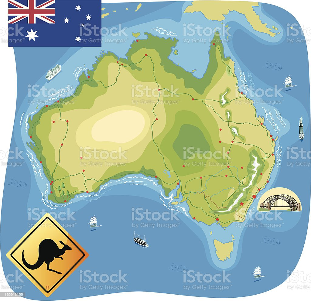 Map of Australia royalty-free map of australia stock vector art & more images of adelaide