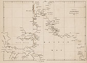 19th century map of Baffin Bay in Nunavut, Canada.