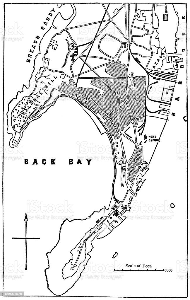 Map Of Bombay royalty-free map of bombay stock vector art & more images of 19th century