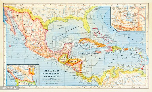 1883 Map Of Central America