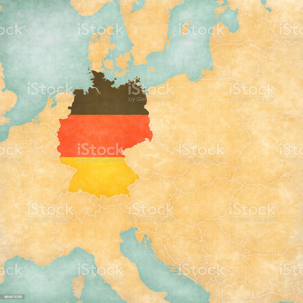 Map of Central Europe - Germany royalty-free map of central europe germany stock vector art & more images of central europe
