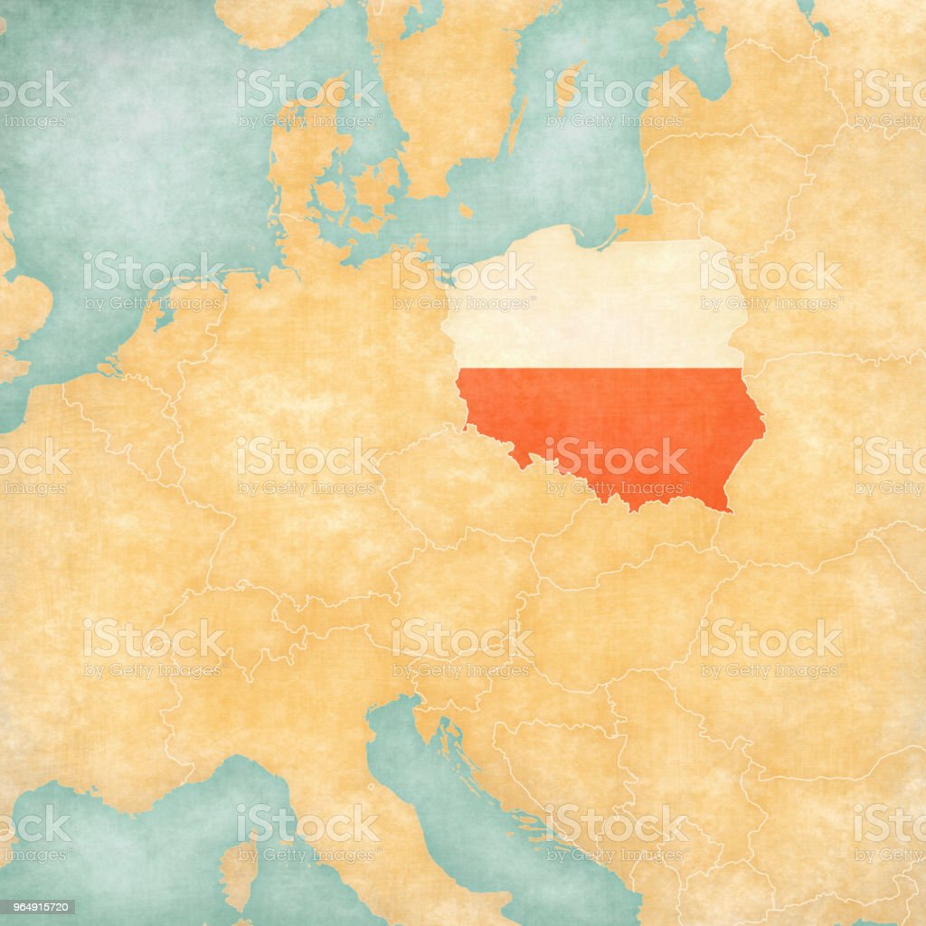 Map of Central Europe - Poland royalty-free map of central europe poland stock vector art & more images of central europe