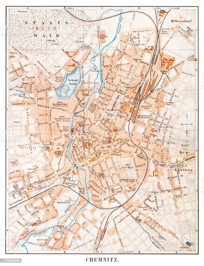 Karte Chemnitz.Karte Von Chemnitz 1895 Stock Vektor Art Und Mehr Bilder Von